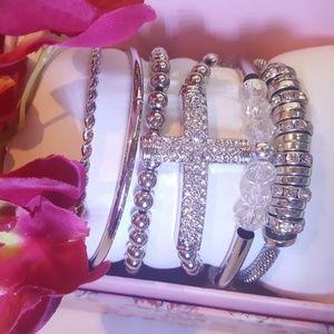 NEW bangle and stretch bracelet set